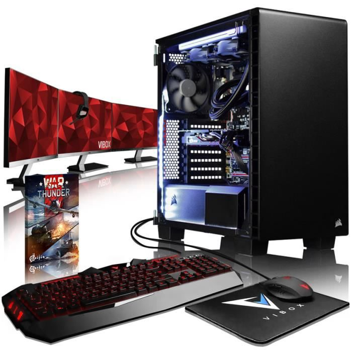 Vibox Armageddon Gm580 519 Pack Pc Gamer Intel 4 Core, Msi Gaming X Gtx 1080 8Gb Gaming Ordinateur de Bureau avec 16 Go Ram, Ssd