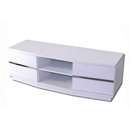Meuble tv blanc design - Meuble tele design laque blanc ...