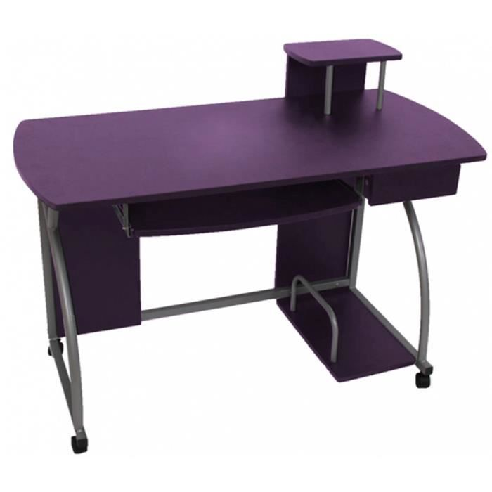 Table de bureau et d 39 ordinateur ohio ii violet dim h90 x - Bureau 90 cm de large ...