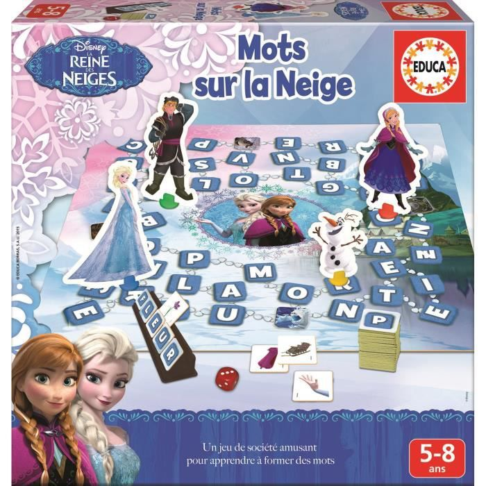 jeu dapprentissage la reine des neiges japprends