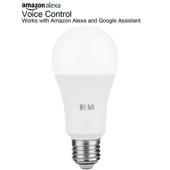 comparer les prix chaussures de course caractéristiques exceptionnelles EOZY Ampoule LED Connectée Wi-Fi Compatible avec Google Home-Amazon Alexa  (Blanc)