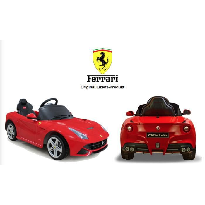voiture lectrique ferrari f12 berlinetta rouge achat vente voiture enfant cdiscount. Black Bedroom Furniture Sets. Home Design Ideas