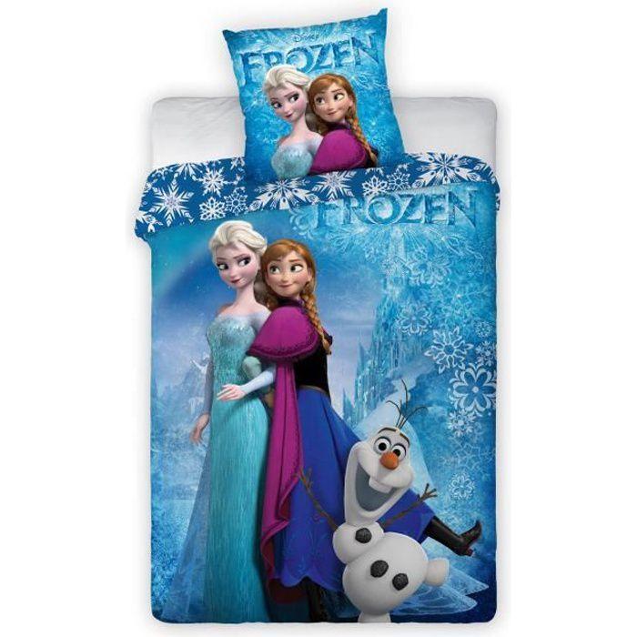 new discount Frozen LA Reine des NEIGES Parure pour Une Personne 140X200 avec TAIE DE 63X63 CM Parure DE LIT Housse DE Couette