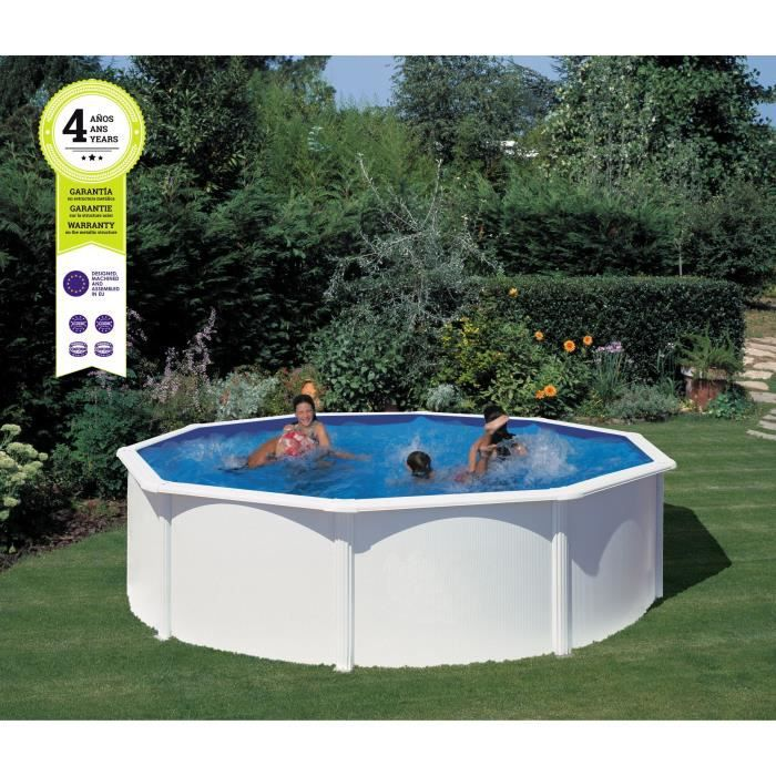 gre piscine acier ronde 460 cm h 132 cm blanc achat vente piscine gre kit piscine 4 6 x. Black Bedroom Furniture Sets. Home Design Ideas