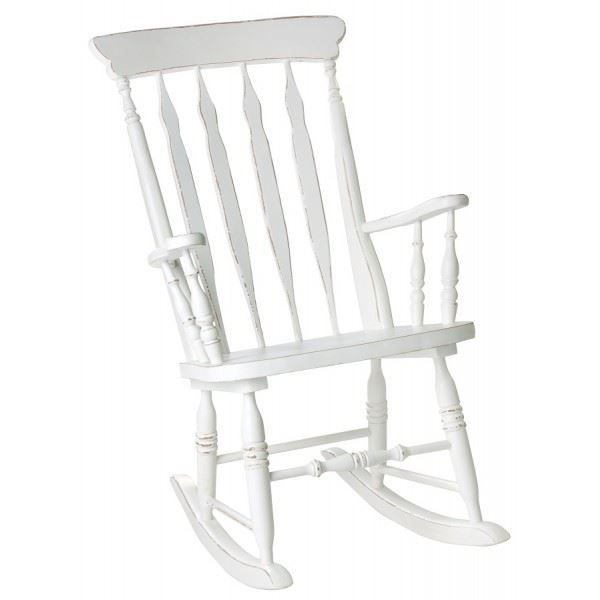 rocking chair max pin massif blanc l 59 x p achat vente fauteuil blanc soldes cdiscount. Black Bedroom Furniture Sets. Home Design Ideas