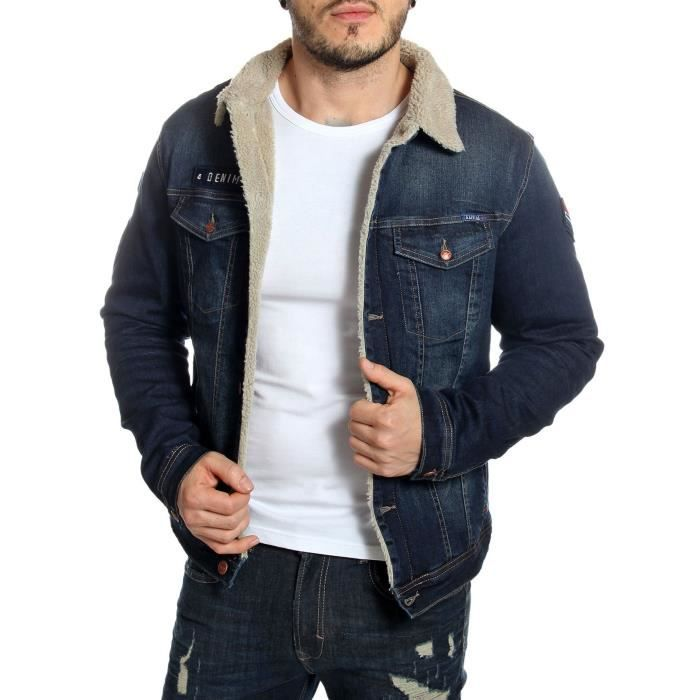 blouson denim homme blouson denim homme with blouson denim homme free levius veste en jean t s. Black Bedroom Furniture Sets. Home Design Ideas