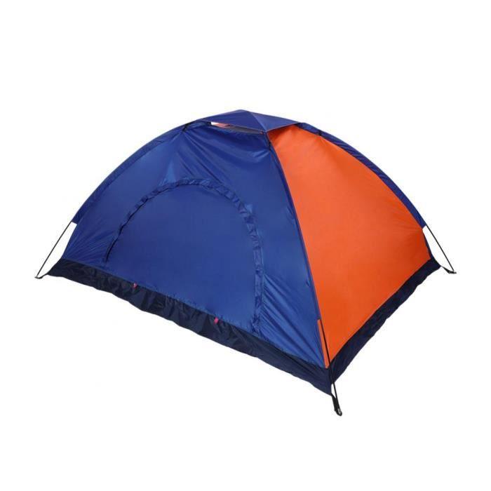 TENTE DE CAMPING Tente de camping étanche double personnes(bleu + o