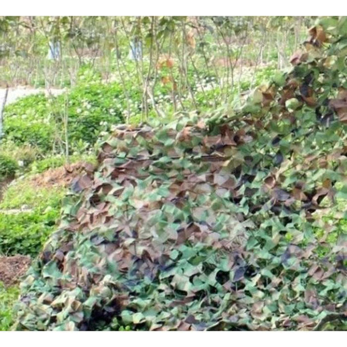 Filet de camouflage militaire woodlands feuille 3 m x 4 m - Filet de camouflage pas cher ...