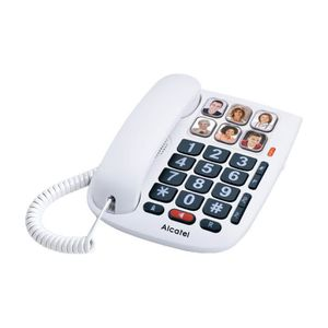 Téléphone fixe sénior Alcatel TMax 10 Blanc Téléphone Filaire Senior