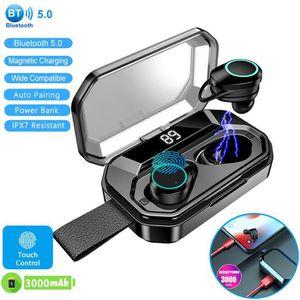 CASQUE - ÉCOUTEURS Ecouteurs Bluetooth 5.0 sans Fil Sport 3000mAh Etu