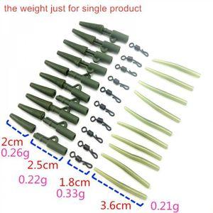 10set pêche durable des clips plomb Pêche à la carpe Tackle Outils avec des tube