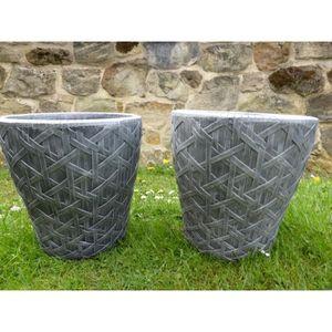JARDINIÈRE - BAC A FLEUR UK-Gardens Ensemble de 2 grands pots de jardinière