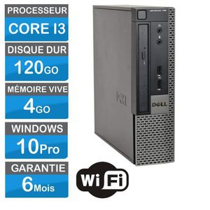 UNITÉ CENTRALE  Pc de bureau Dell Optiplex 790 USFF USFF Core i3 1