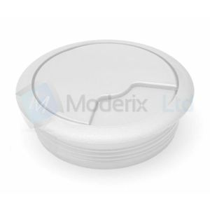 Accessoires boîtiers Passe cable passe fil plastique en blanc design di