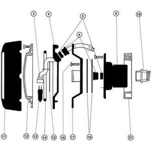 Garniture mécanique Presse étoupe de pompe piscine HAYWARD et autres