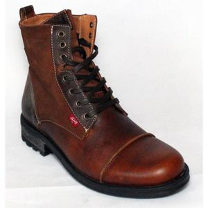 BOTTINE LEVI'S BOTTES CHAUSSURES HOMME CUIR BROWN T 44
