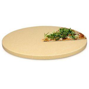 PIERRE À PIZZA Navaris Pierre à Pizza pour Four XXL - Plaque de C