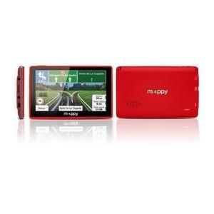 GPS AUTO MAPPY ITI E-438 GPS Slim Rouge avec Housse Carte à