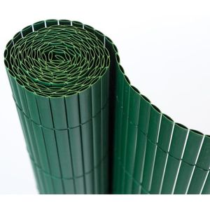 CLÔTURE - GRILLAGE Canisse en PVC, coloris vert - Dim : 90 x 500 cm