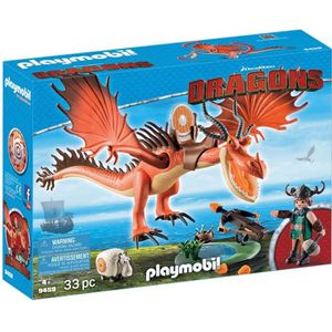 UNIVERS MINIATURE PLAYMOBIL 9459 - Dragons - Rustik et Krochefer