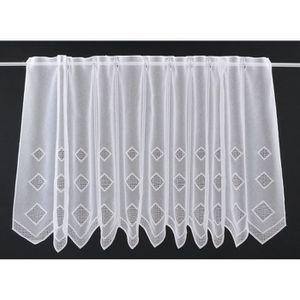 Colour: Blanc Rideaux Brise-bise Mini carr/és 120 cm de Haut Vous Pouvez Choisir la Largeur des Rideaux par paliers de 25 cm Rideaux Cuisine