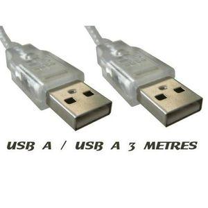 CÂBLE INFORMATIQUE VSHOP® Câble USB A-A mâle-mâle 3M