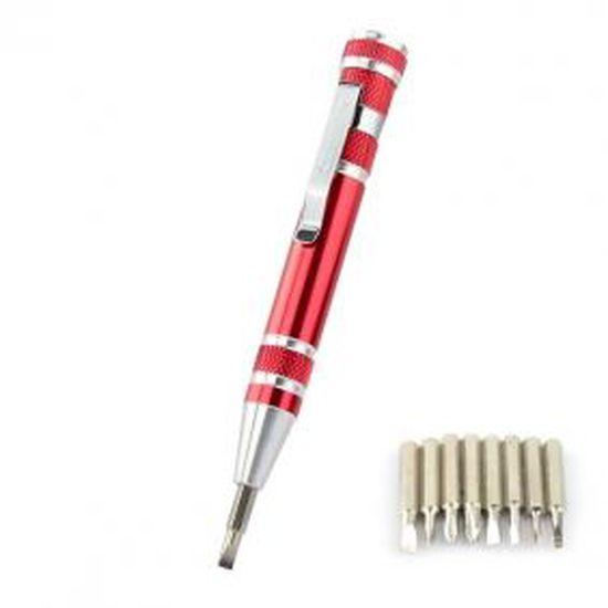 8 En 1 Poche Stylo Précision Tournevis Tournevis Set Réparation Gadgets Tools