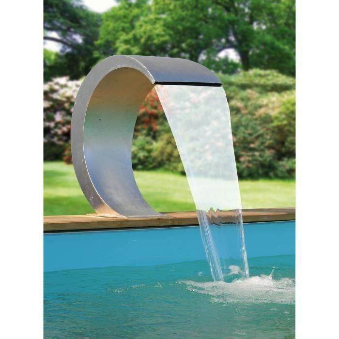 DÉCORATION PISCINE UBBINK Cascade Mamba Led bleu pour piscine