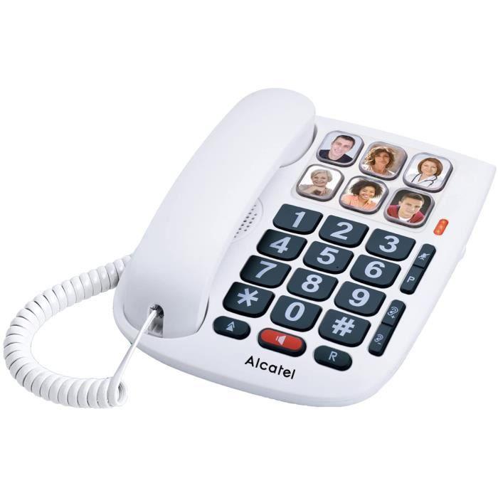 Alcatel TMax 10 Blanc Téléphone Filaire Senior