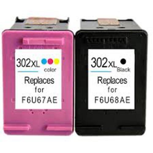 Pack de 2 cartouches 302 XL Black & Color pour imprimante HP Envy 4520 4522 4524 - ENCRE DE FRANCE