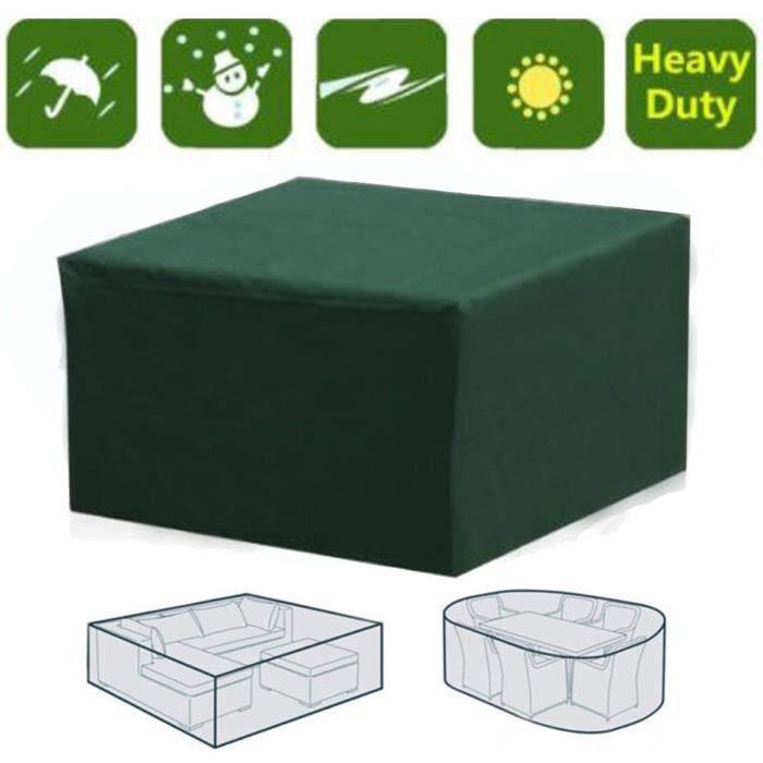 Bâche imperméable de stockage d'hiver de meubles de jardin extérieurs de couverture de table de jardin tt5001