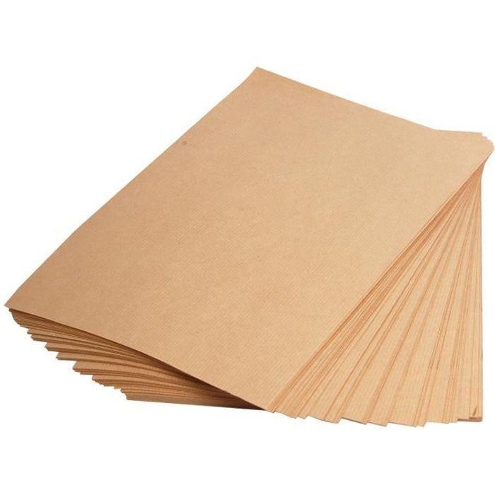 Feuilles papier épais Kraft A4 - 10 feuilles