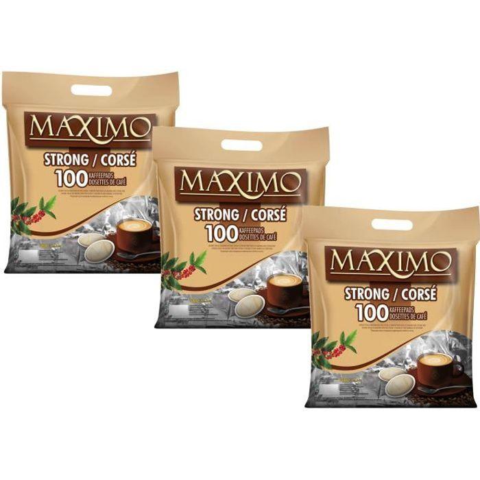 MAXIMO Café Corsé 3x100 dosettes type Senseo