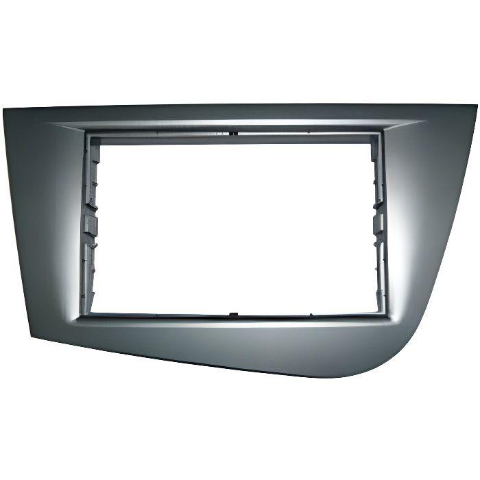 Adaptateur de façade d'autoradio Double DIN gris Seat Leon 2006 >