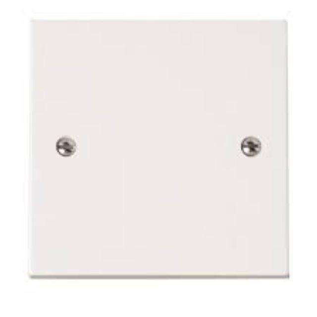 Simple Gang (1G) électrique blanc Socket Plaque d'obturation