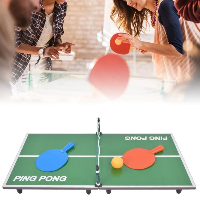 Mini table de tennis portable, jeu de table de ping-pong pliant avec filet, jeu de table jouet de divertissement parent-enfant pour