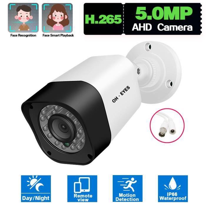 Caméra 5MP AHD caméra de vidéosurveillance analogique filaire 5MP, Vision nocturne extérieure, caméra de sécu