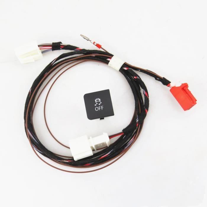 Commutateur,READXT pour VW Golf MK6 Jetta 5 MK5 6 ESP OFF ASR bouton de commutation avec câble harnais Plug accessoires Auto