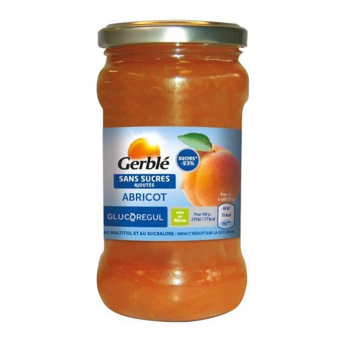 [LOT DE 3] GERBLE Confiture à l'abricot sans sucres ajoutés - 320 g