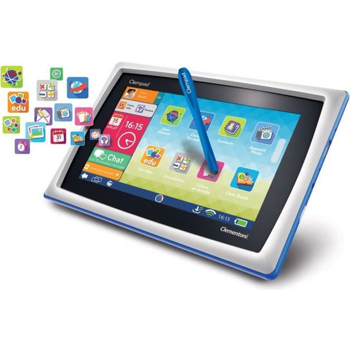 CLEMENTONI Tablette Tactile Enfant 7- Clempad