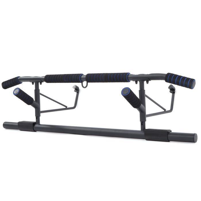 Barres de Traction Murale Barre de Fitness Fixation plafond Exercices Pull Up Bar - bleu -BOT