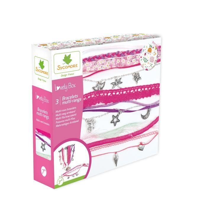 SYCOMORE - Kit de loisir créatif enfant - Bracelets multi-rangs - 3 projets - DIY - Lovely Box Collector - Dès 7 ans
