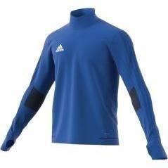 ADIDAS T-shirt d'entrainement manches longues Tiro 17 - Homme -Bleu et Bleu foncé et Blanc