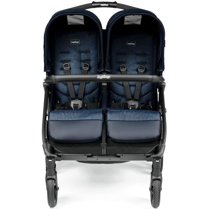 PEG PEREGO Poussette Double Book For Two - Bleu indigo