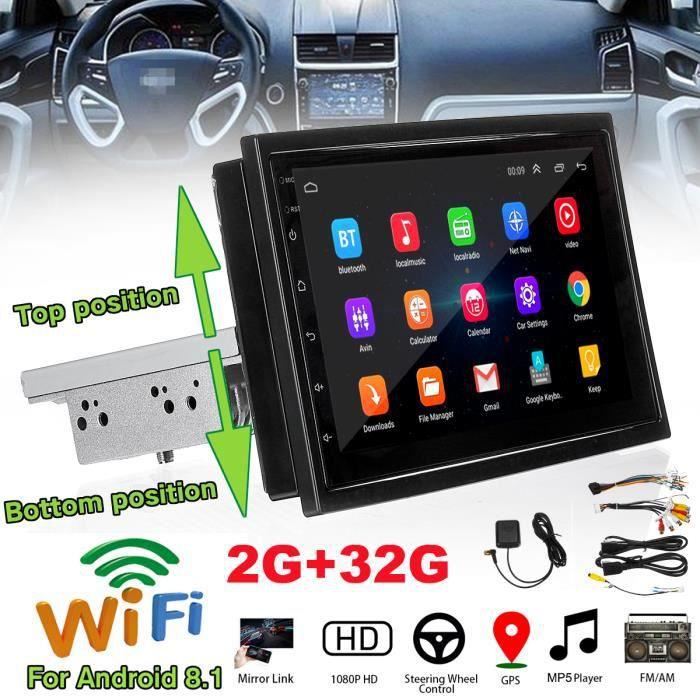 7-inch Autoradio Bluetooth Android 8.1 HD Voiture Multimédia MP5 Lecteur vidéo FM Radio Stéréo GPS WiFi 2G + 32G