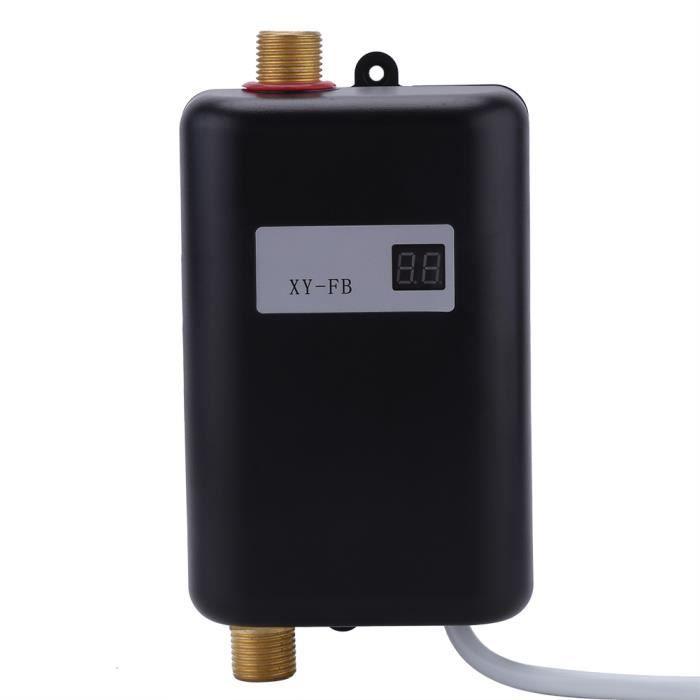 3400W Mini Chauffe-Eau Instantané système de douche Noir sans réservoir PR Salle De Bain Cuisine Lavage 220V - XY FR