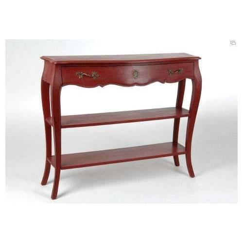 console murano rouge amadeus achat vente console console murano rouge amadeus cdiscount. Black Bedroom Furniture Sets. Home Design Ideas