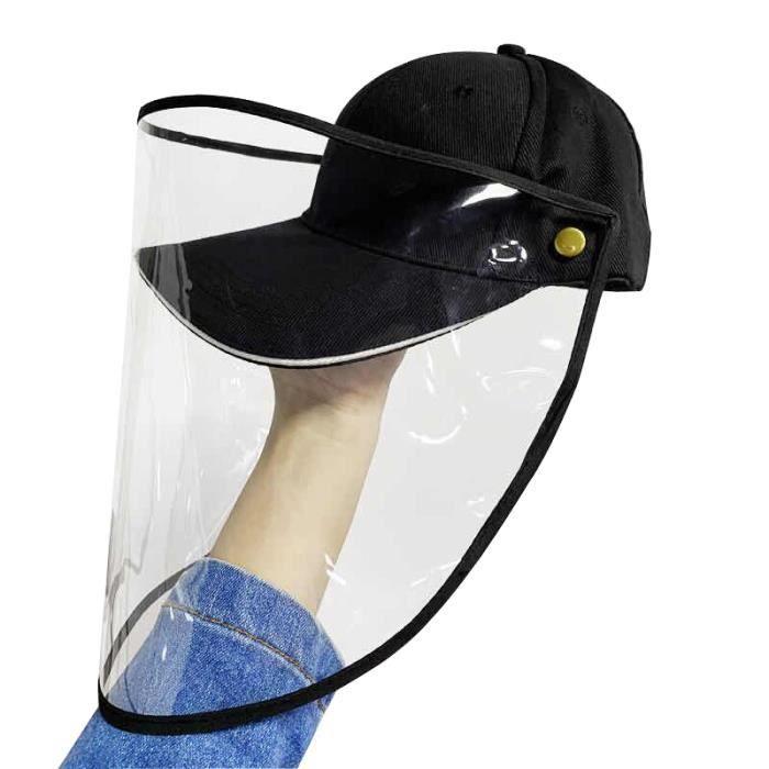 Casquette de Baseball Visi/ère Amovible Masque Anti Eclaboussure Facial de S/écurit/é Masque Anti-salive Chapeau de Protection Anti-crachats Visi/ère pour Femme et Homme Masque de Protection faciale