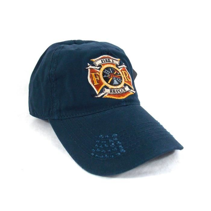 u s paramedic casquette pompier us firefighter brodee vintage style taille unique achat. Black Bedroom Furniture Sets. Home Design Ideas