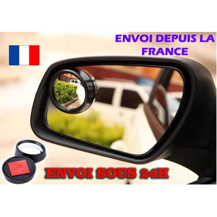 miroir convexe angle mort 50mm lot de 2 grand angle voiture achat vente alarme vehicule. Black Bedroom Furniture Sets. Home Design Ideas